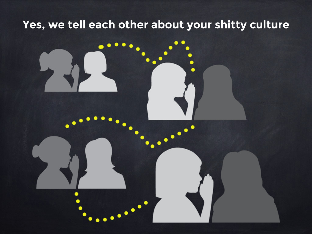 Yes, we tell each other about your shitty cultu...