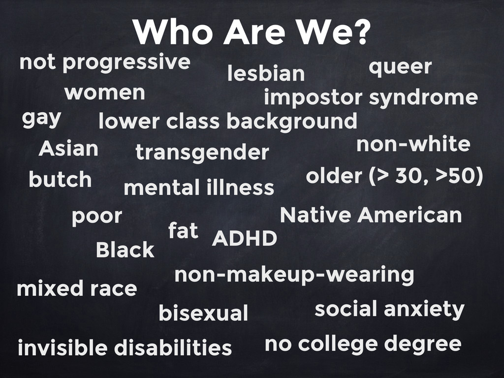 Who Are We? women queer lower class background ...