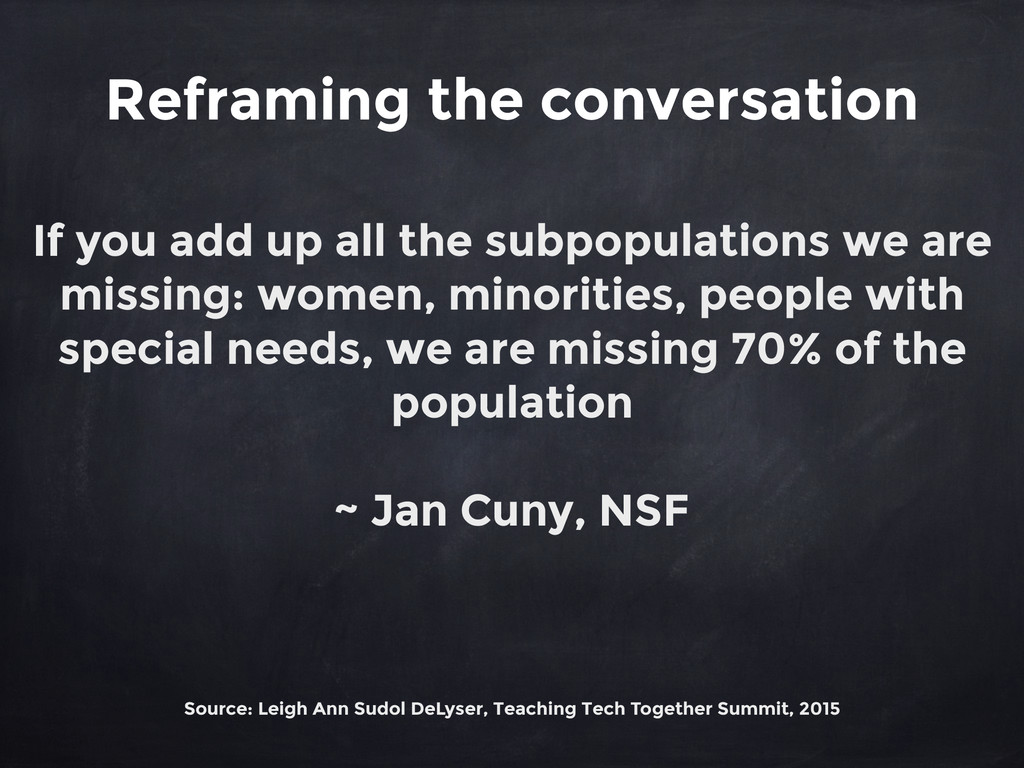 Reframing the conversation If you add up all th...