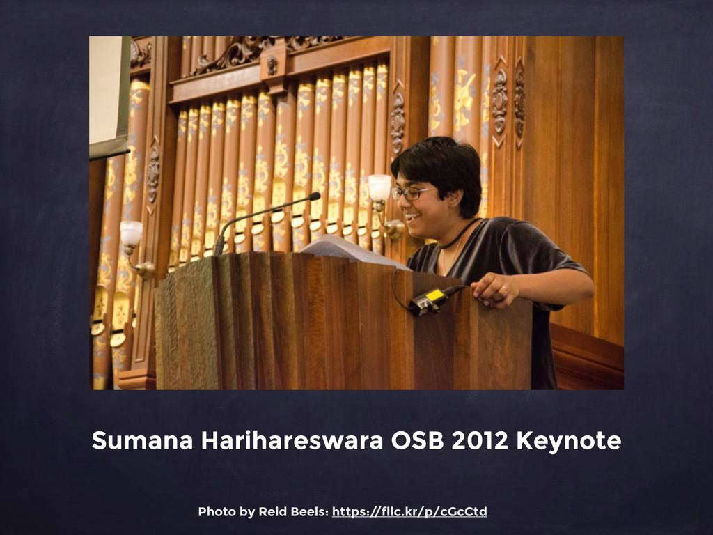Sumana Harihareswara OSB 2012 Keynote Photo by ...