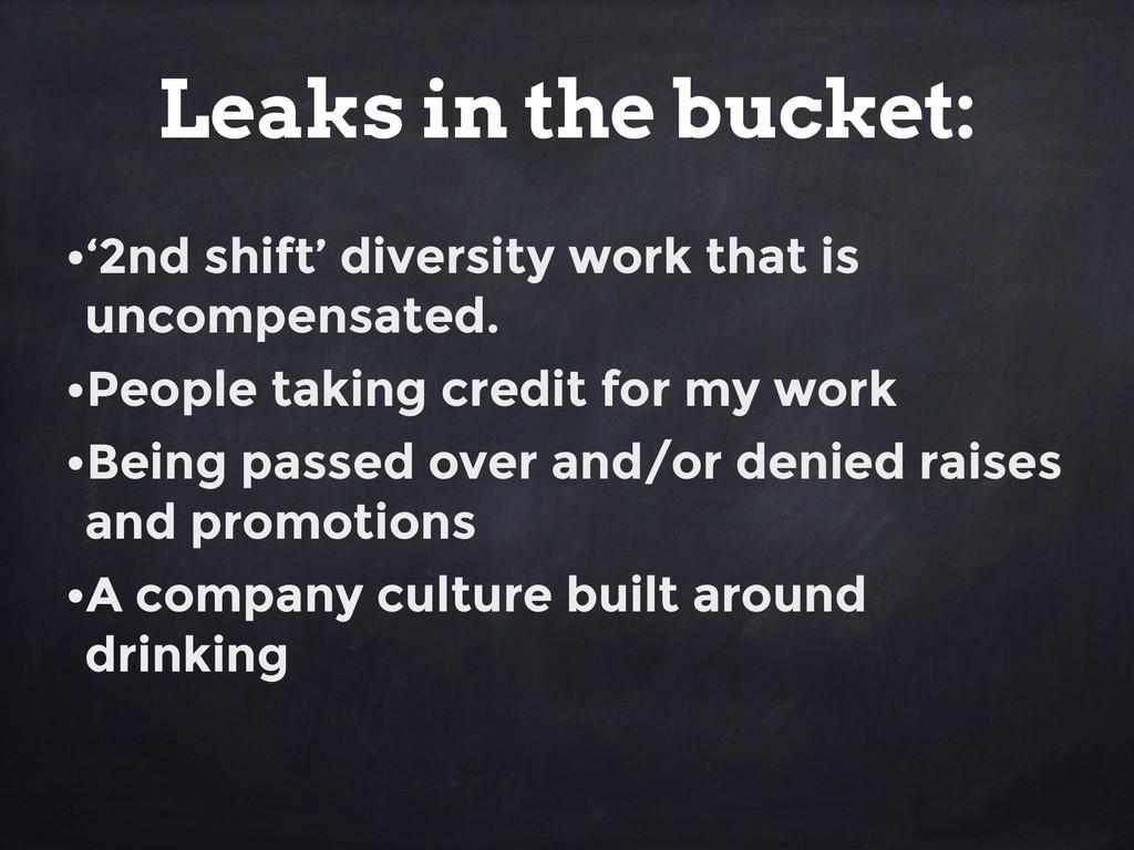 •'2nd shift' diversity work that is uncompensat...