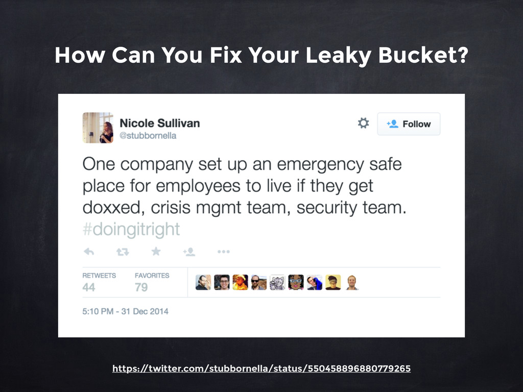 How Can You Fix Your Leaky Bucket? https:/ /twi...