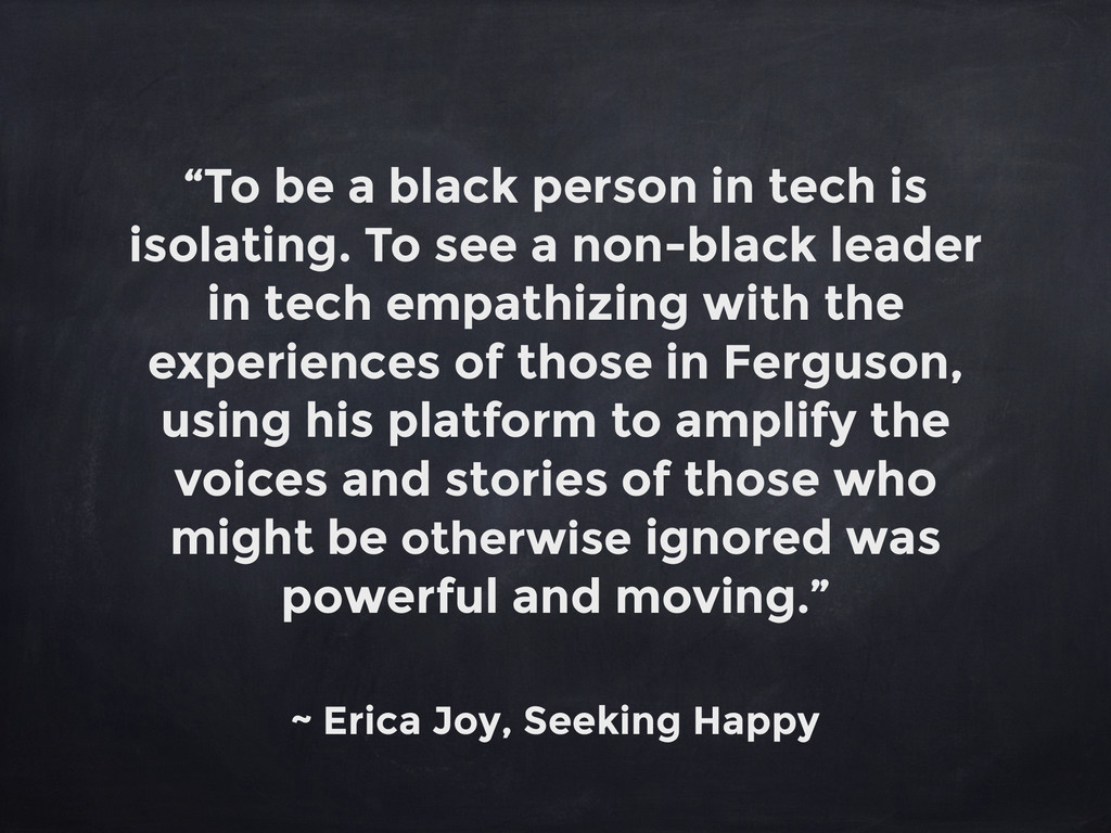 """""""To be a black person in tech is isolating. To ..."""