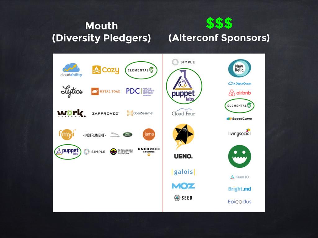 Mouth (Diversity Pledgers) $$$ (Alterconf Spons...