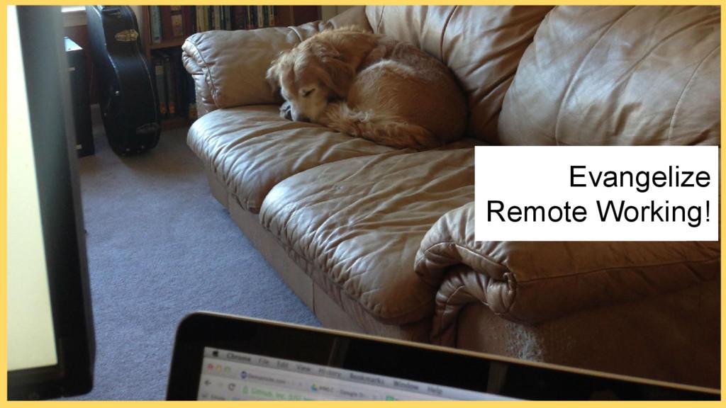 Evangelize Remote Working!