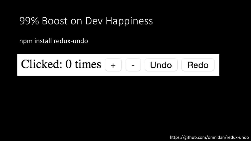 99% Boost on Dev Happiness npm install redux-un...