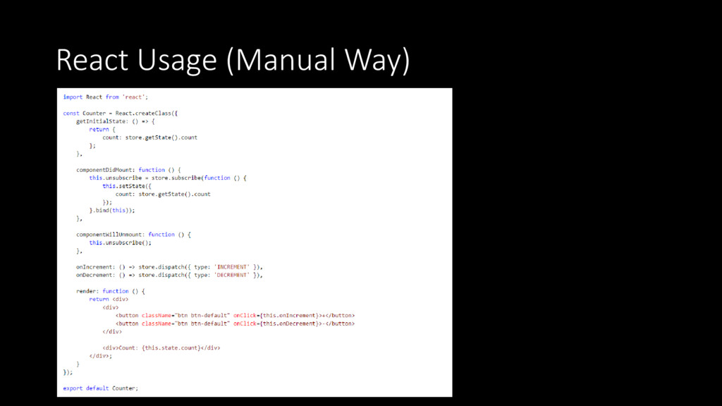React Usage (Manual Way)