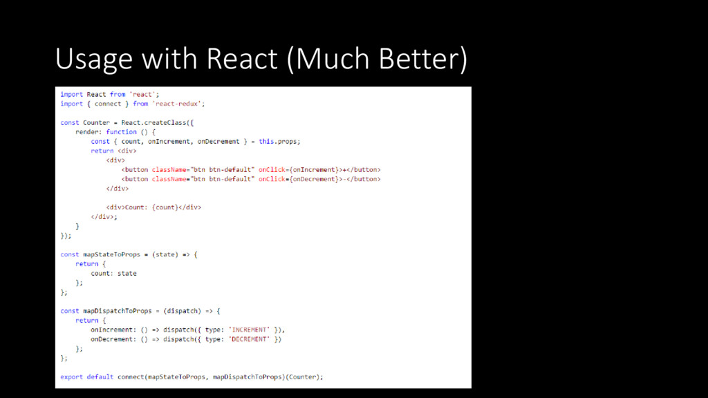 Usage with React (Much Better)