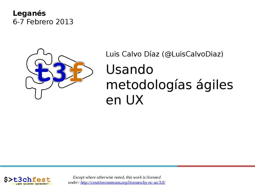 Luis Calvo Díaz (@LuisCalvoDiaz) Usando metodol...
