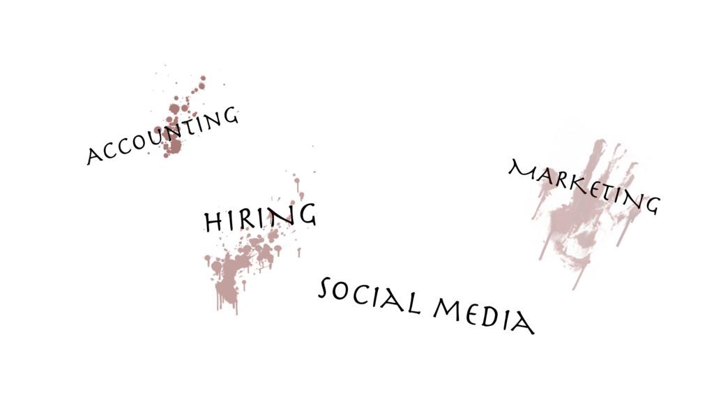 MARKETING HIRING social media Accounting