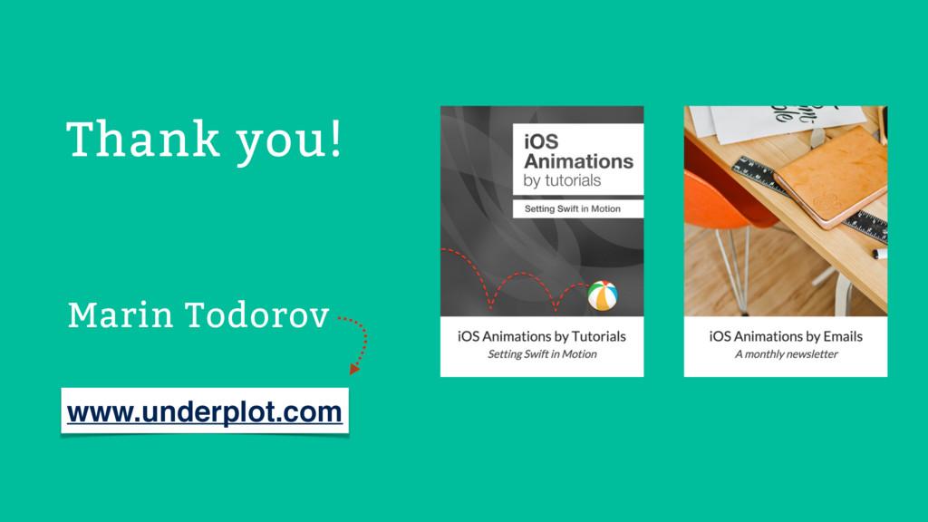 Marin Todorov Thank you! www.underplot.com