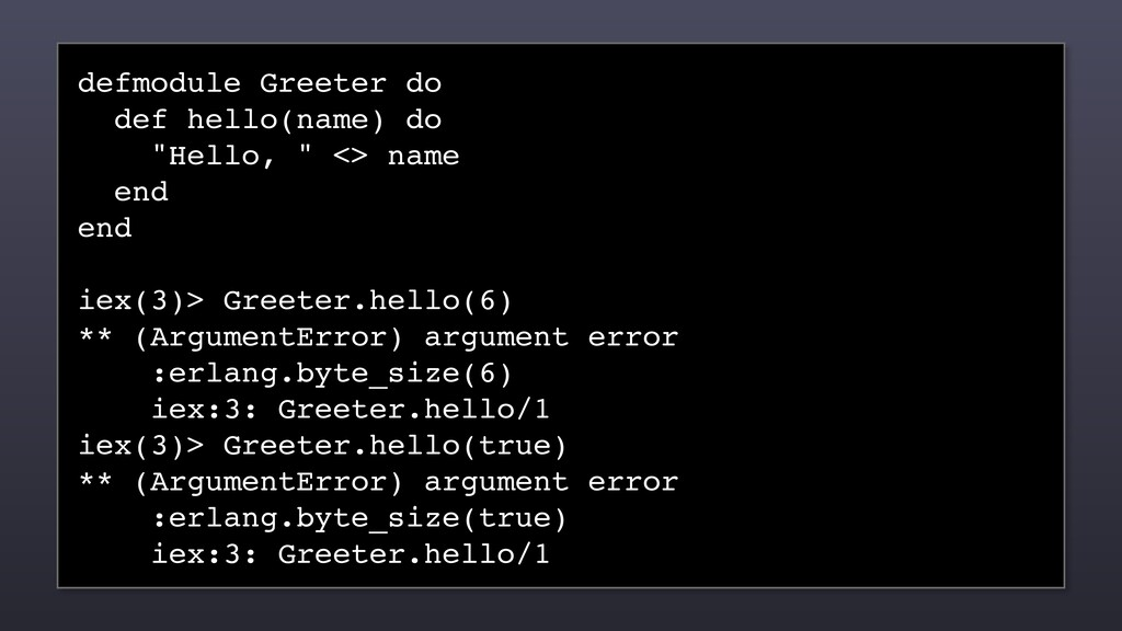 "defmodule Greeter do def hello(name) do ""Hello,..."