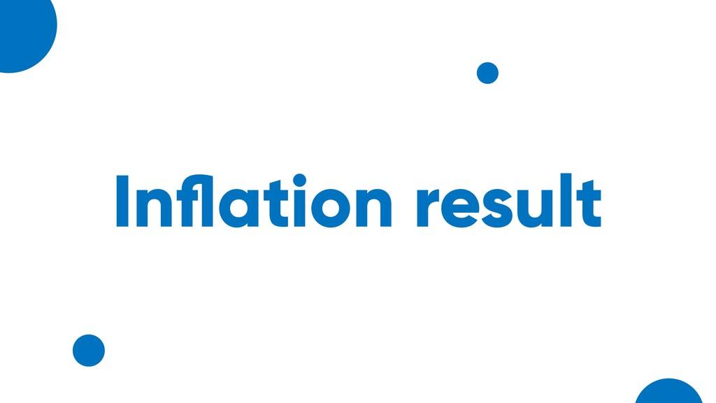 Inflation result