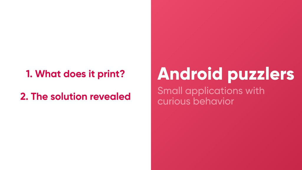 Small applications with curious behavior Androi...