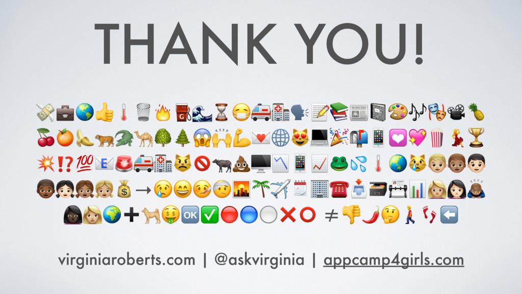 THANK YOU! ⛽⌛  ⁉cde fghi→✈☎yz{ |}➕✅⚪❌⭕Û⬅ virg...