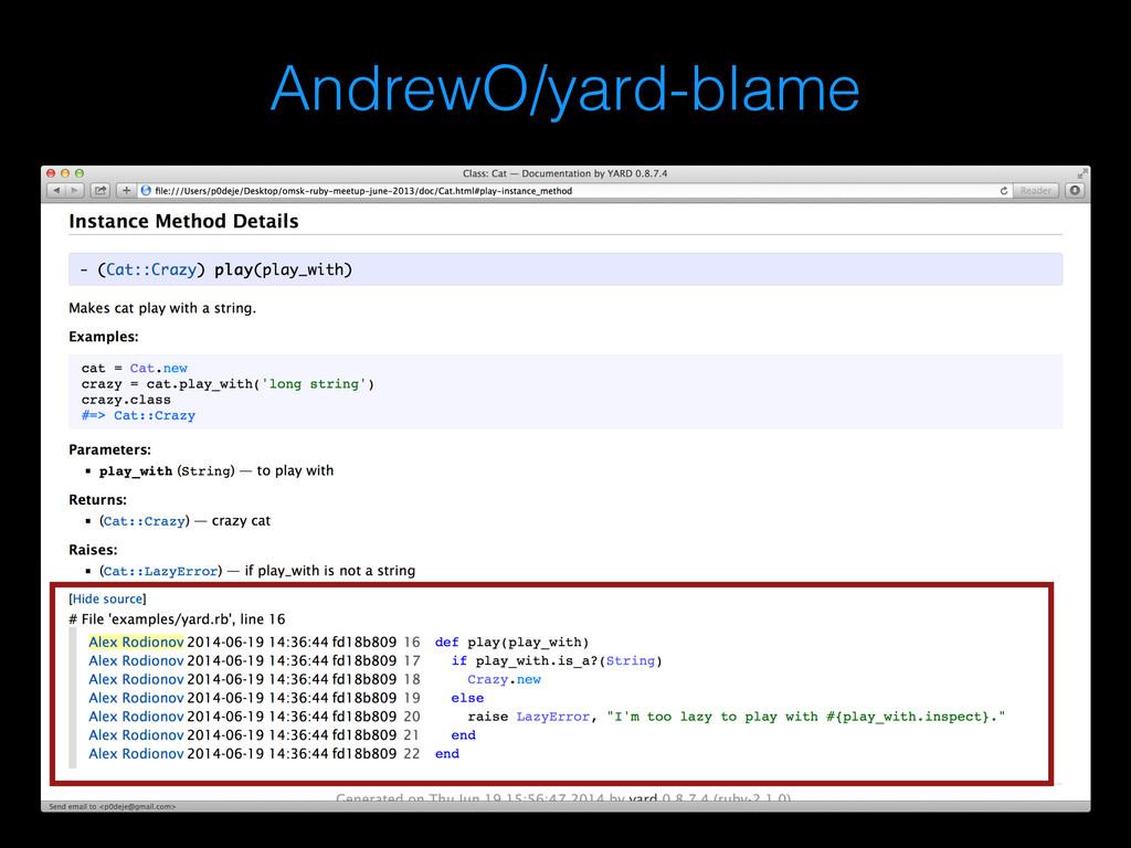 AndrewO/yard-blame