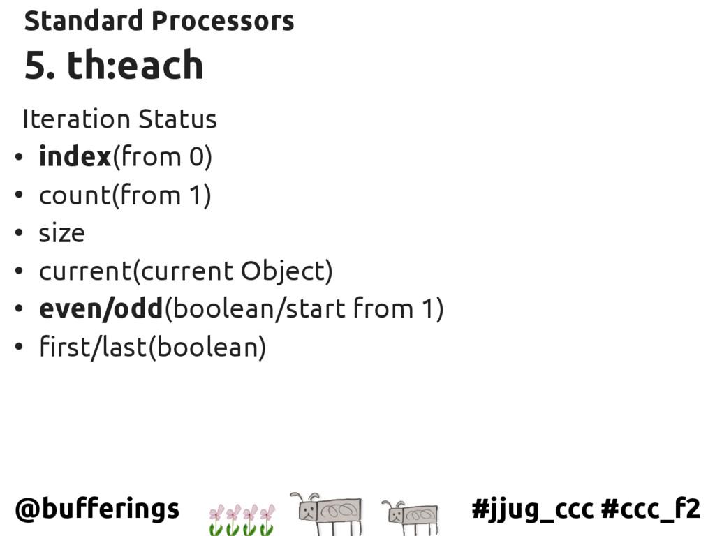 #jjug_ccc #ccc_f2 @bufferings 5. th:each Standa...