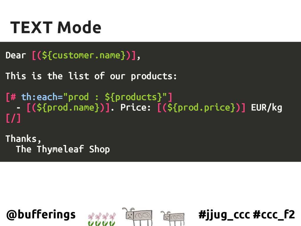 #jjug_ccc #ccc_f2 @bufferings TEXT Mode Dear [(...