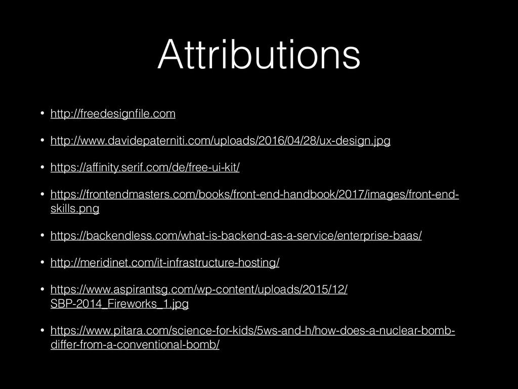 Attributions • http://freedesignfile.com • http:...