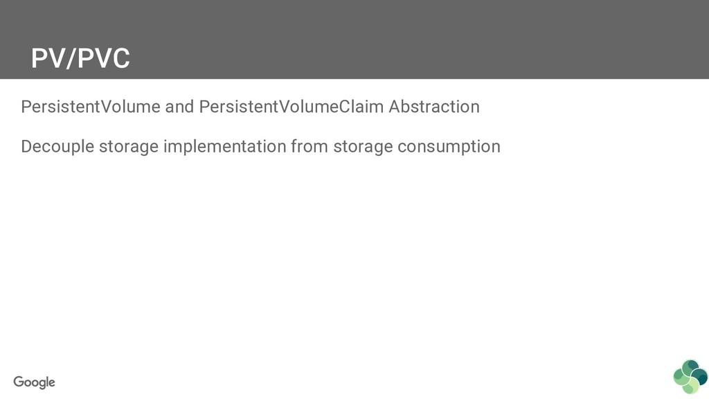 PV/PVC PersistentVolume and PersistentVolumeCla...