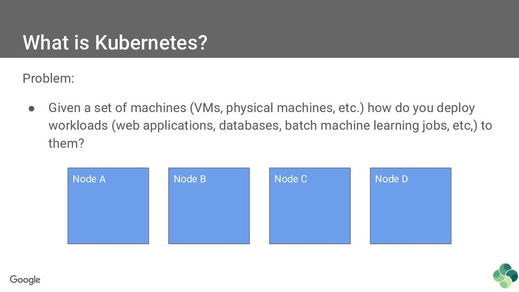 What is Kubernetes? Problem: ● Given a set of m...