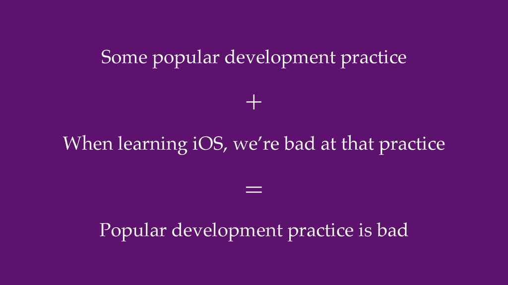 Some popular development practice When learning...