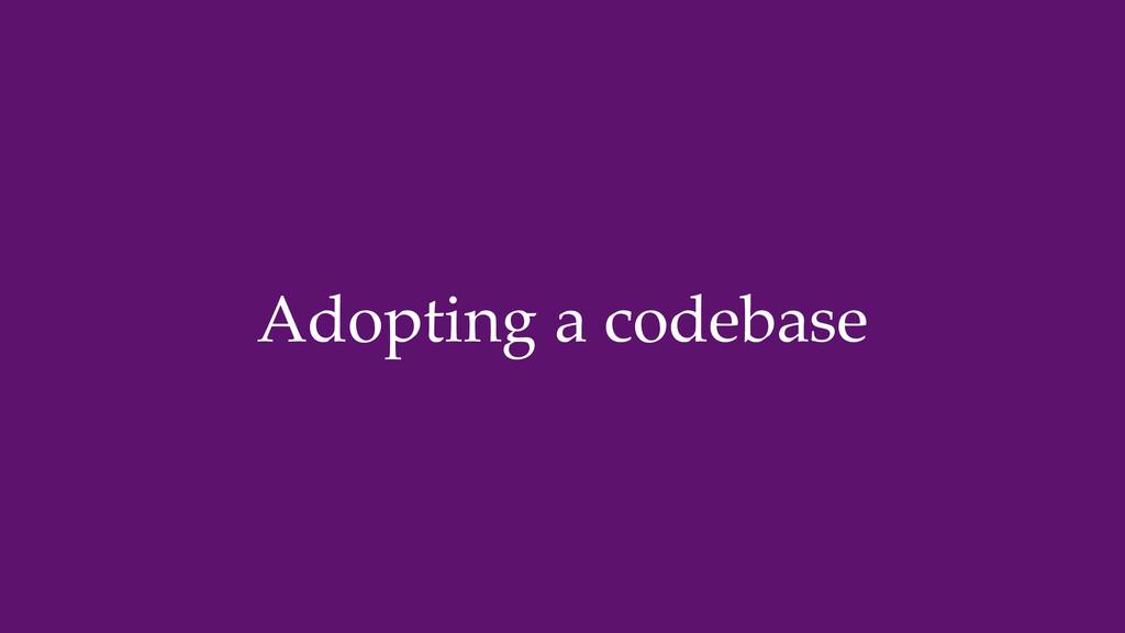 Adopting a codebase