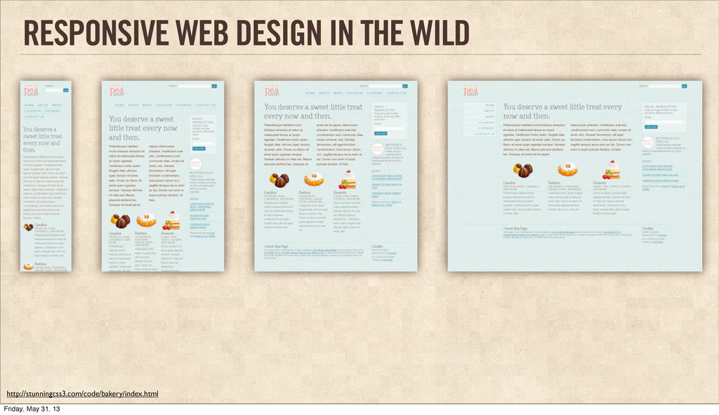 RESPONSIVE WEB DESIGN IN THE WILD http://stunni...