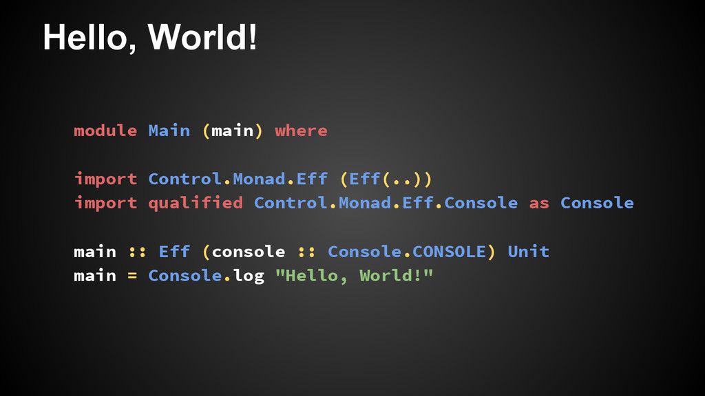 Hello, World! module Main (main) where import C...