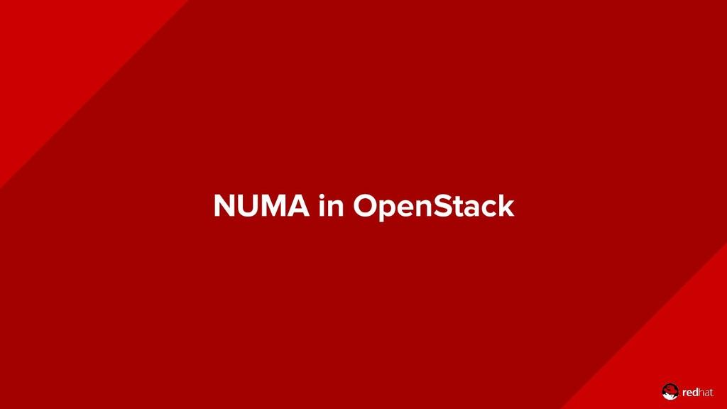 NUMA in OpenStack