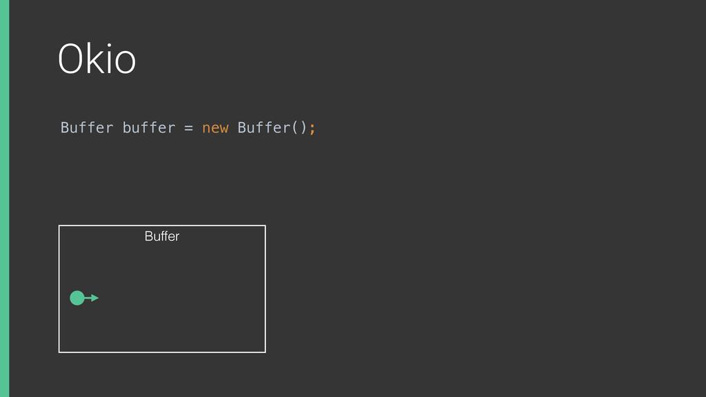Okio Buffer buffer = new Buffer(); Buffer