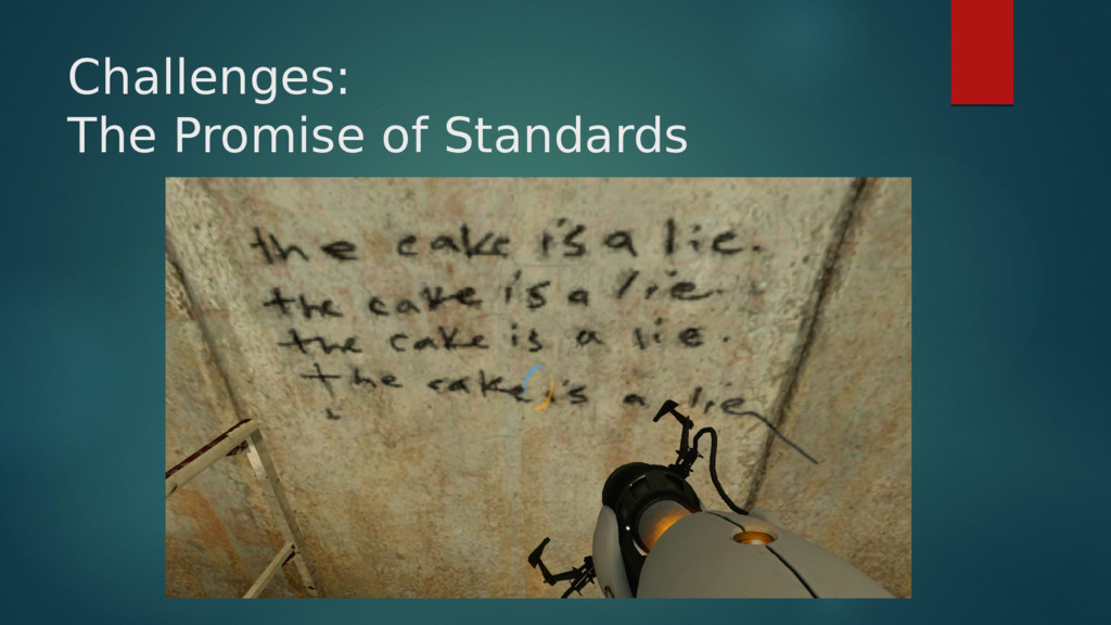 Challenges: The Promise of Standards