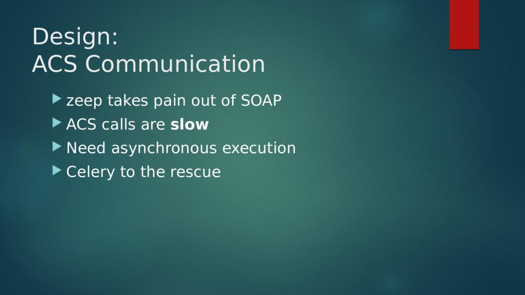 Design: ACS Communication  zeep takes pain out...