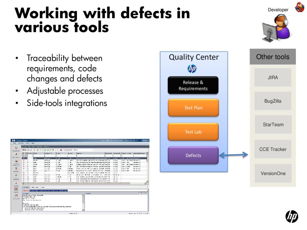 • Traceability between requirements, code chang...