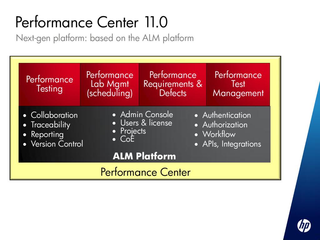 Next-gen platform: based on the ALM platform Pe...