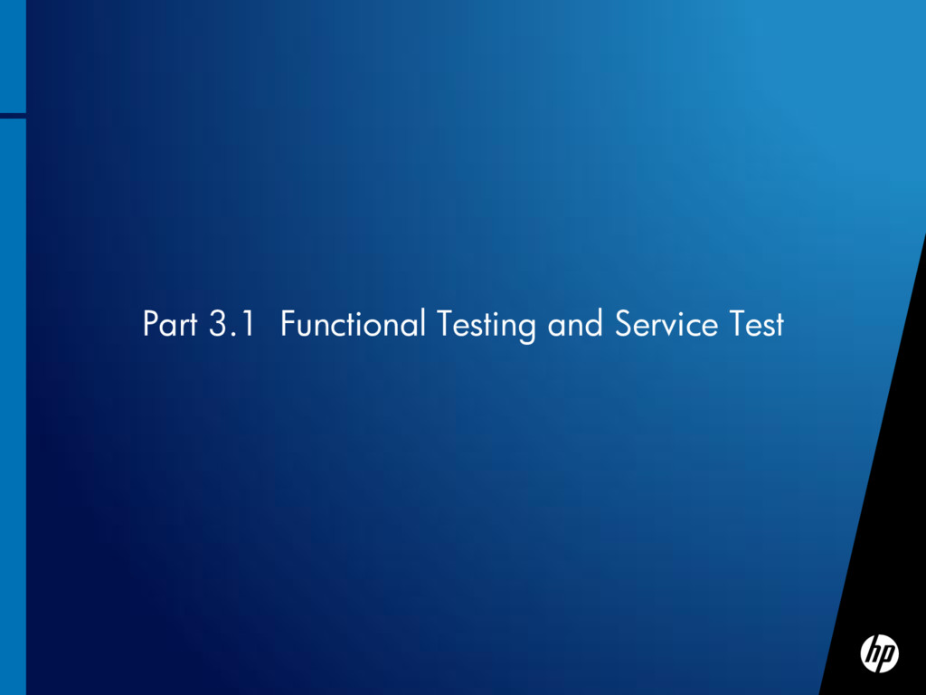 Part 3.1 Functional Testing and Service Test
