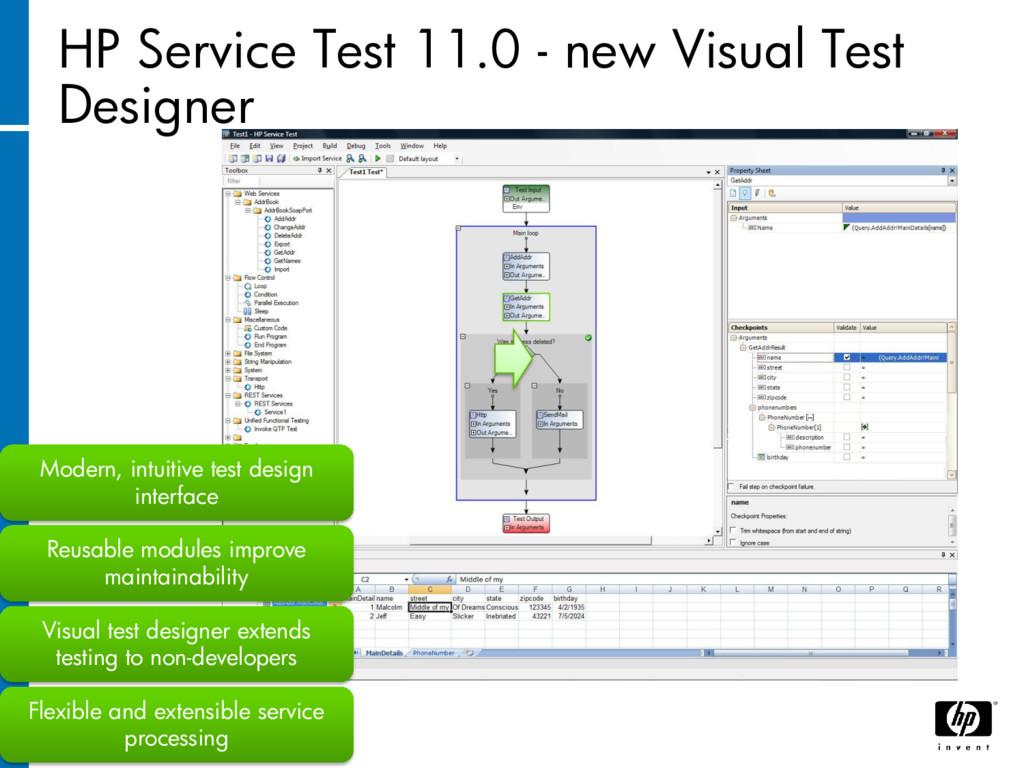 HP Service Test 11.0 - new Visual Test Designer...