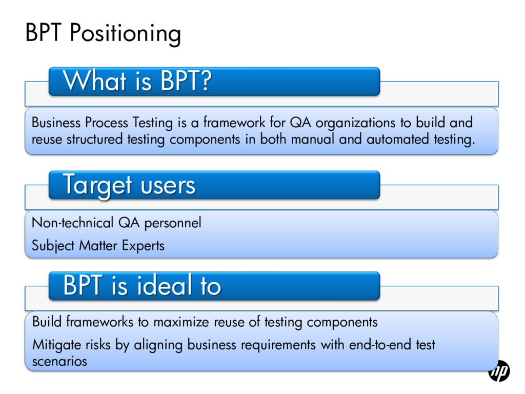 BPT Positioning What is BPT? Business Process T...