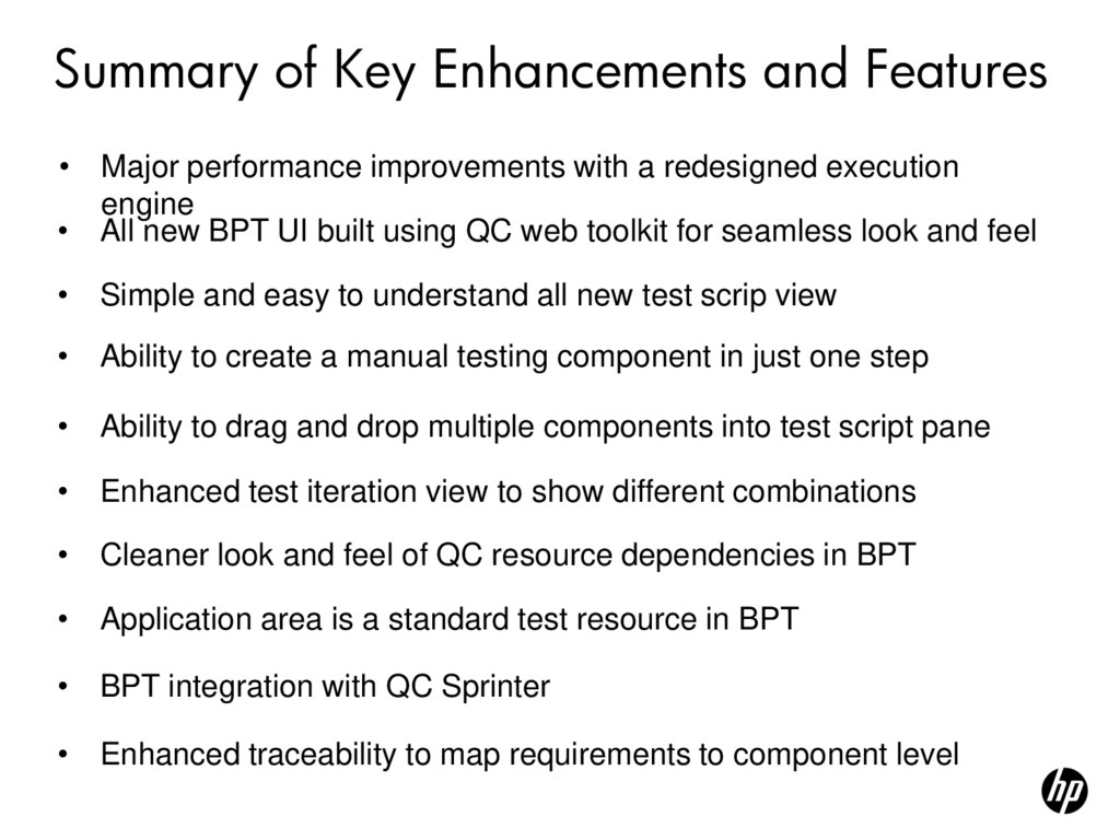 Summary of Key Enhancements and Features • All ...