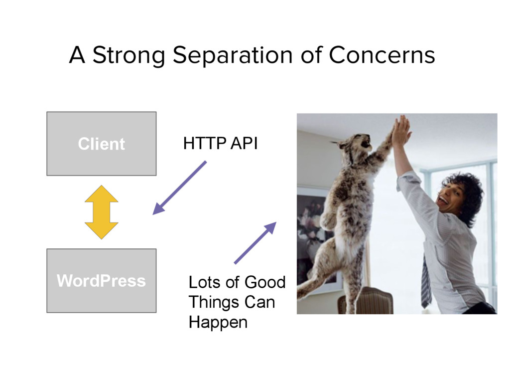 A Strong Separation of Concerns Client WordPres...