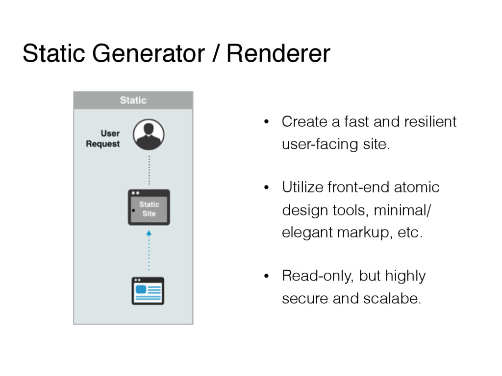 Static Generator / Renderer • Create a fast and...