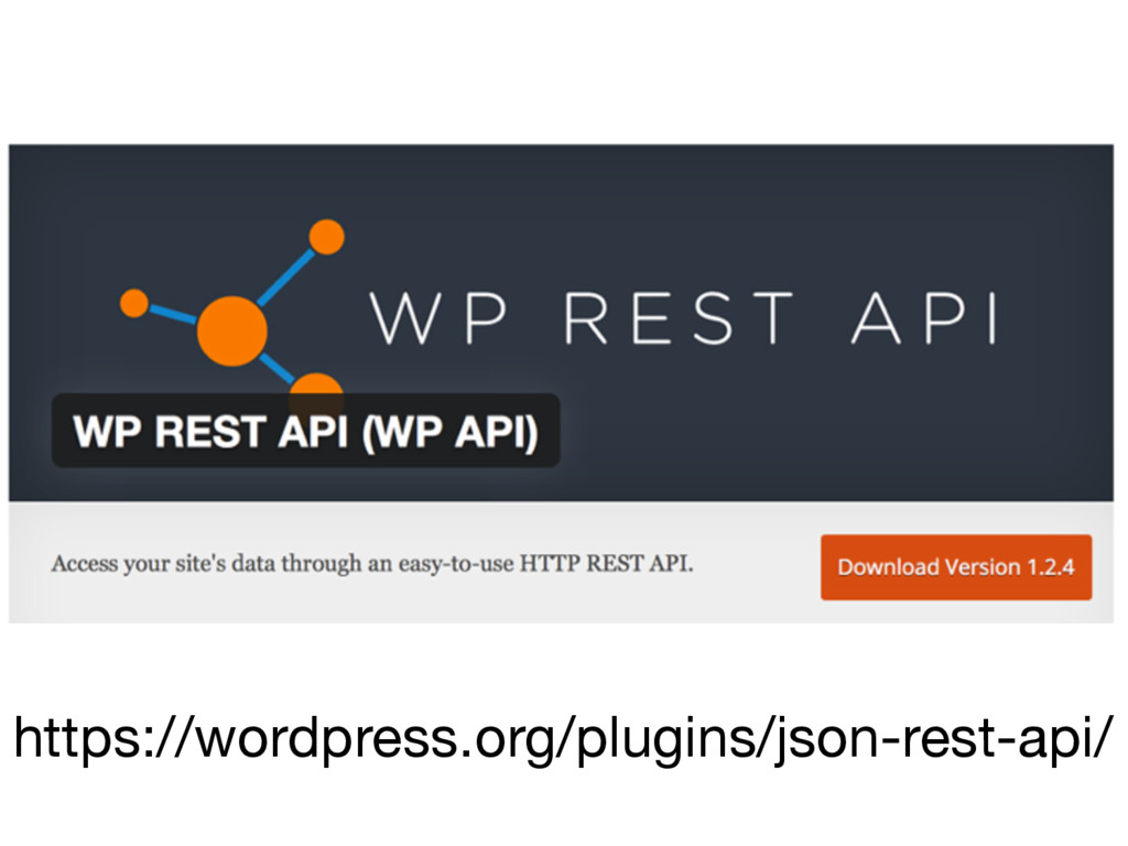 https://wordpress.org/plugins/json-rest-api/