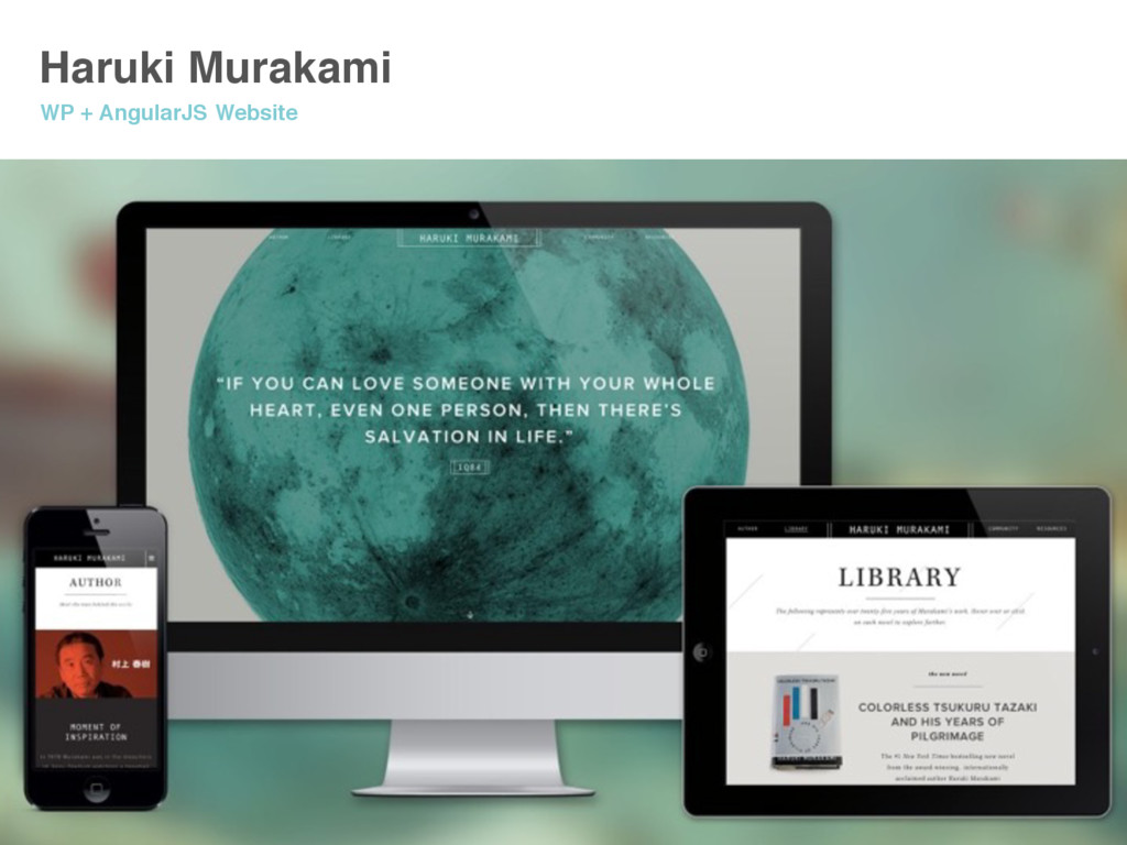 Haruki Murakami WP + AngularJS Website