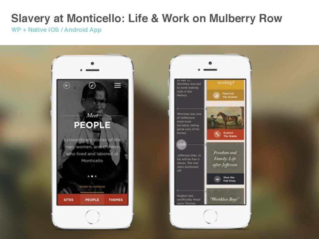 Slavery at Monticello: Life & Work on Mulberry ...