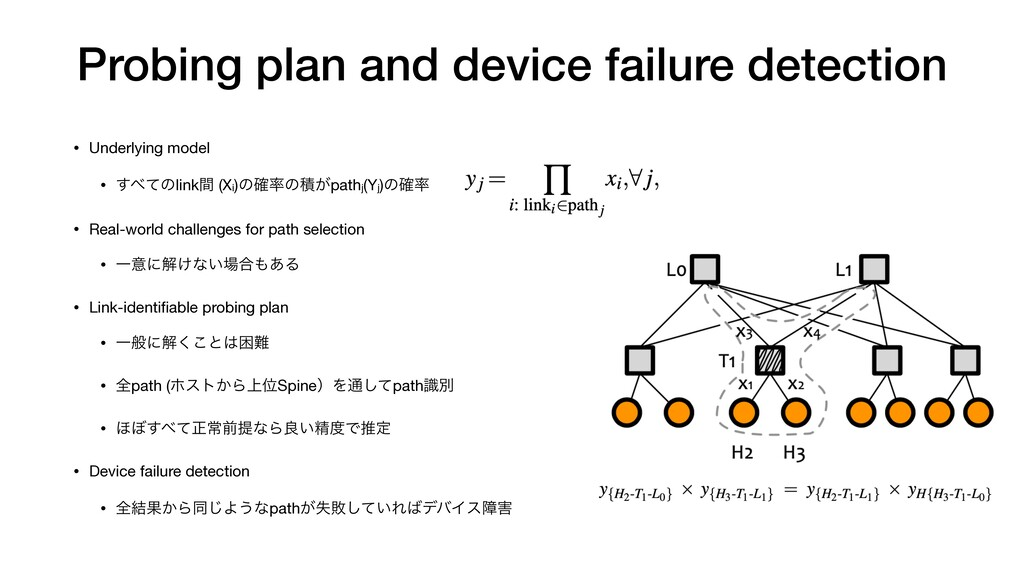 Probing plan and device failure detection • Und...