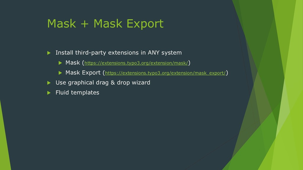 Mask + Mask Export  Install third-party extens...