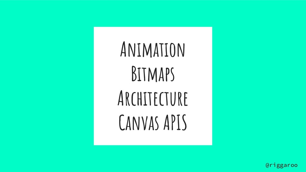 Animation Bitmaps Architecture Canvas APIS @rig...