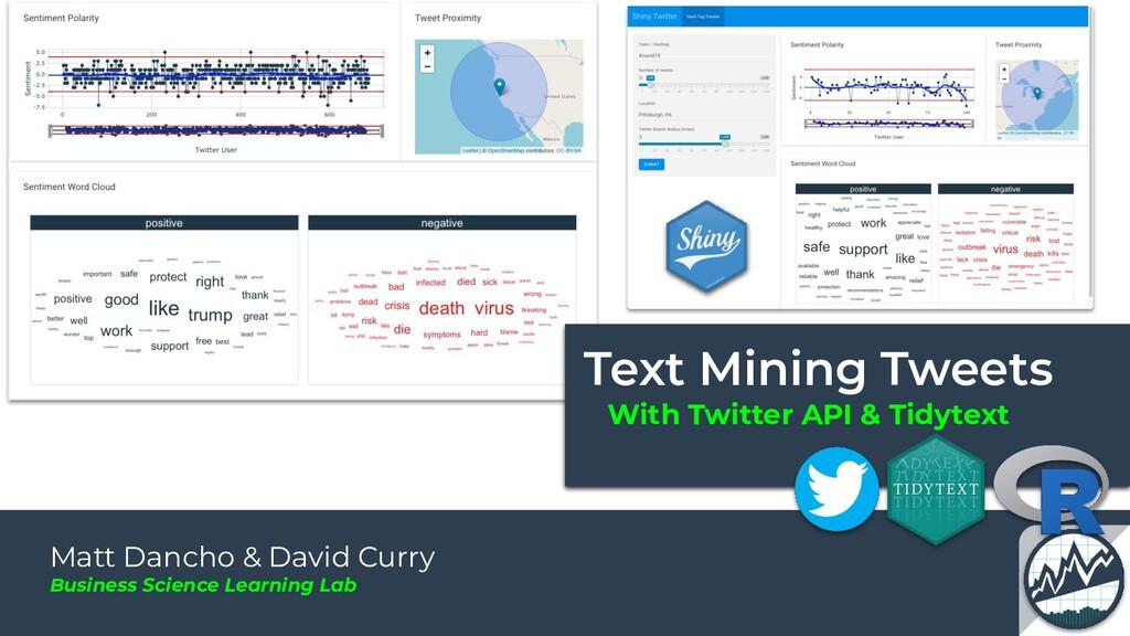 With Twitter API & Tidytext Matt Dancho & David...