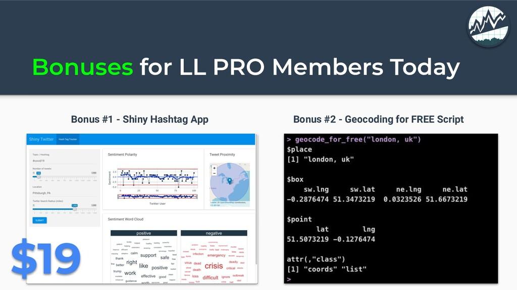 Bonuses for LL PRO Members Today Bonus #1 - Shi...