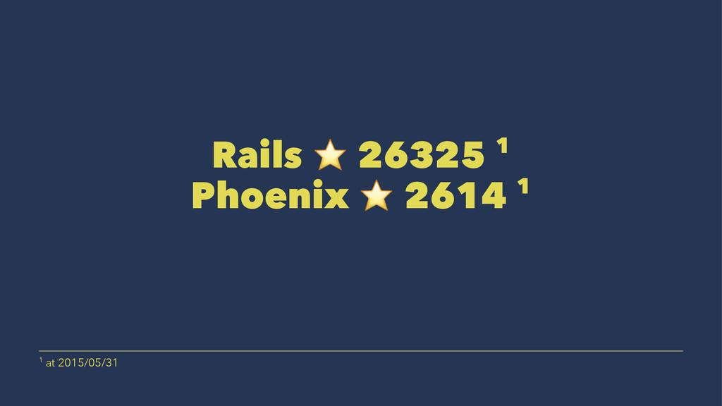 Rails ⭐ 26325 1 Phoenix ⭐ 2614 1 1 at 2015/05/31